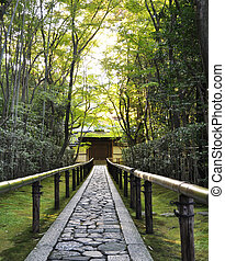 koto-in, ένα , sub-temple, από , daitoku-ji, - , κυότο , ιαπωνία