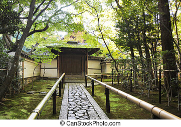 koto-in,  sub-temple, Templo,  daitoku-ji, aproximação, estrada