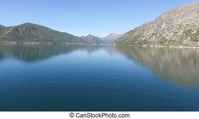 Kotor Bay in Montenegro. Shooting Aerial - Kotor Bay in...