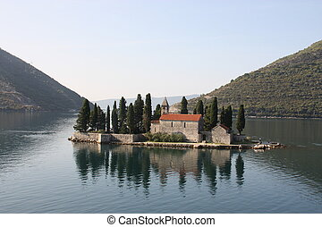 kotor, montenegro, adriático, sea.