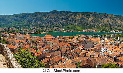 kotor,  Montenegro, solig,  kotor, vik, dag, synhåll