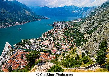 kotor, montenegro, synhåll, magnifik, vik