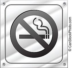 kouření, vektor, ne, firma