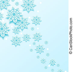 koude, kerstmis, achtergrond, snowflakes