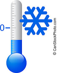 koude, vector, symbool, ijs