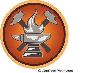 kovácsműhely, ikon