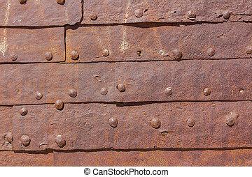 kov, dveře, grafické pozadí