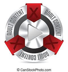 kovový, xxx, odznak