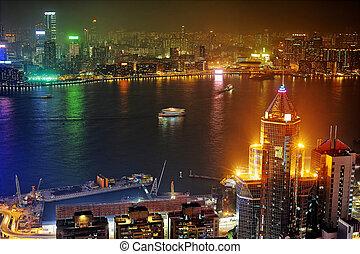 kowloon, éjjel