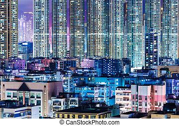 Kowloon district in Hong Kong