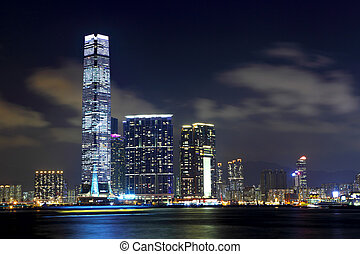 Kowloon in Hong Kong at night