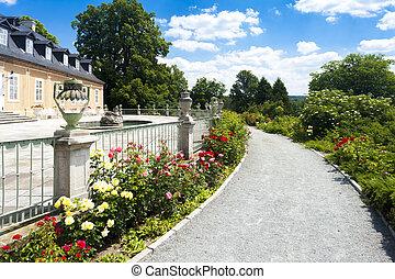 Kozel Palace with garden, Czech Republic