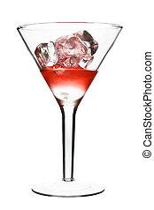 kozmopolita, alkoholista, -, cocktail., elszigetelt, háttér...