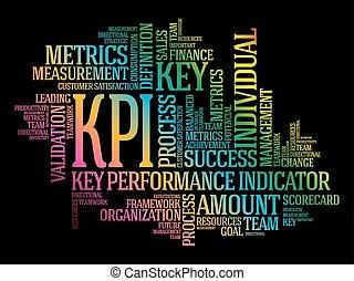 kpi, 表示器, -, キー, パフォーマンス