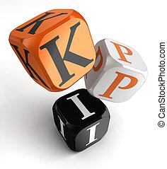 kpi dice blocks, key performance indicator