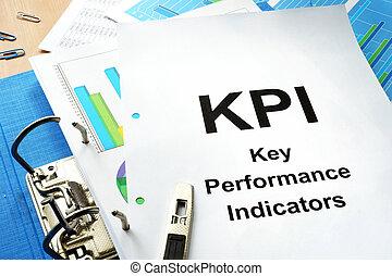 kpi, -, indicator., chiave, esecuzione