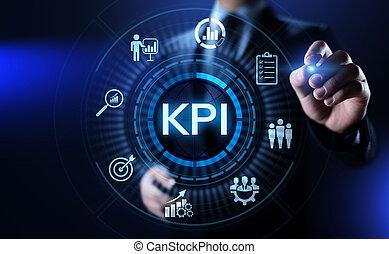 KPI Key Performance Indicator business industrial concept.