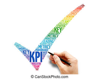 KPI - Key Performance Indicator check mark, business concept...