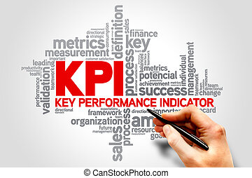 KPI Key Performance Indicator related items words cloud,...