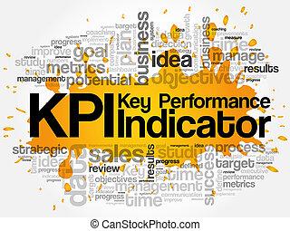 KPI - Key Performance Indicator word cloud, business concept