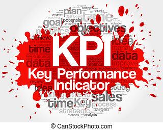 KPI - Key Performance Indicator word cloud, vector business...