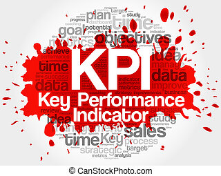 KPI - Key Performance Indicator word cloud, vector business...