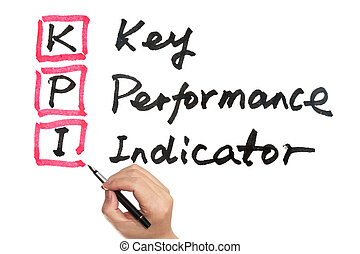 KPI - Key performance indicator words written on white board