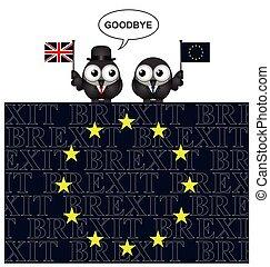 království, evropa, sjednocený, odchod