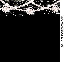 kráska, perla, grafické pozadí, vektor, ilustrace