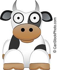 kráva, s, big zamýšlet