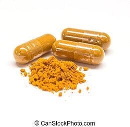 kräuter, capsule., droge