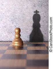 król, cień, szachy