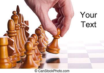 król, gra, strategia, deska, szachy