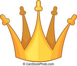 król, styl, korona, syn, ikona, rysunek