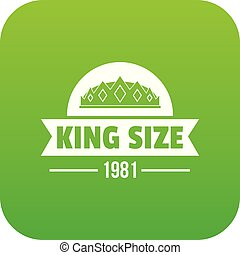 król, wektor, zielony, średniowieczny, ikona