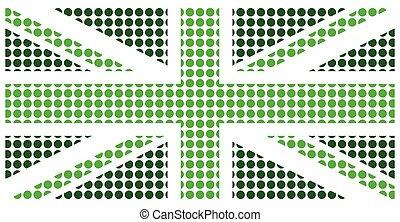 królestwo, bandera, zjednoczony, zielony
