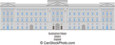 królestwo, buckingham, zjednoczony, pałac, londyn