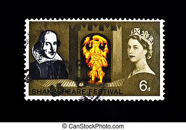 królestwo, opłata pocztowa, zjednoczony, tłoczyć