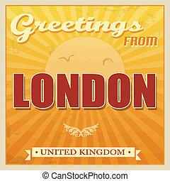 królestwo, rocznik wina, zjednoczony, londyn, afisz