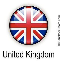 królestwo, stan, zjednoczony, bandera