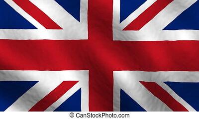 królestwo, zawiązywanie, bandera, zjednoczony