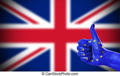 królestwo, zjednoczony, zjednoczenie, pozytywny stosunek, europejczyk