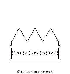 królewska korona, szkic