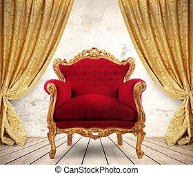 królewski, fotel