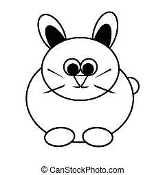 królik, ilustracja