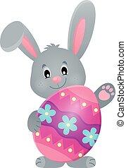 królik, stylizowany, jajko, wielkanoc