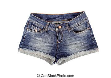 krótki, dżinsy, szorty