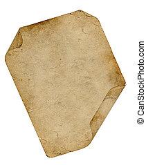 krølle, pergament