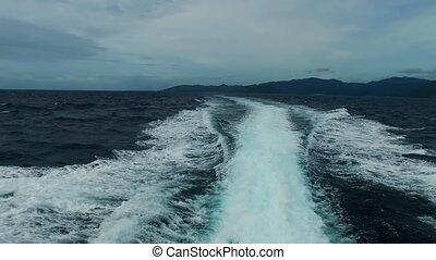 krążąc po morzach, bali, indonezja, wysoki, morze, szybkość