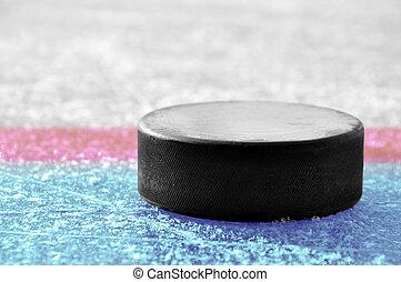 krążek, czarnoskóry, hokej